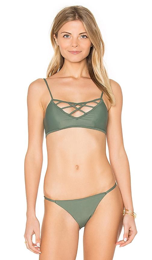 Issa de' mar Hina Bikini Top in Green