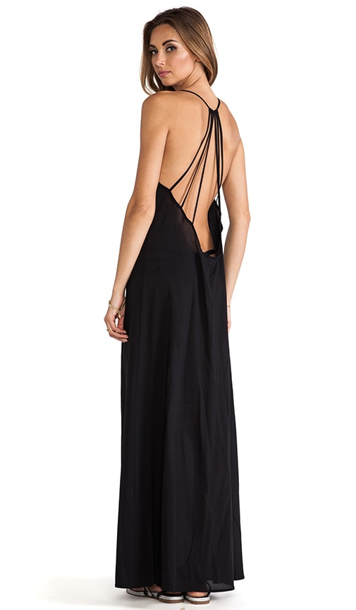 Issa de' mar St. Bart's Maxi Dress in Black