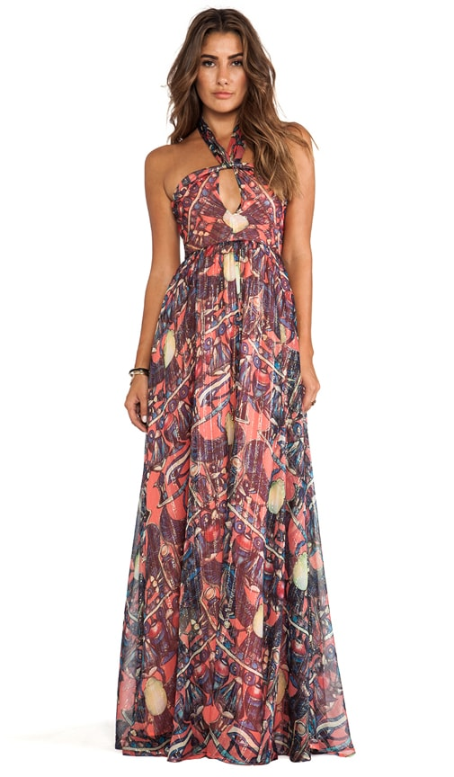 Printed Maxi Halter Dress