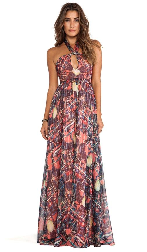 Printed Maxi Halter Dress