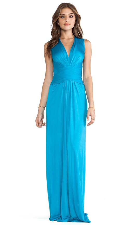 Sleeveless Wrap Maxi Dress