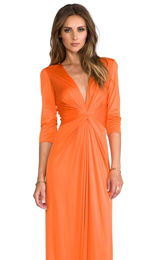 Deep V-Neck Silk Jersey Maxi Dress