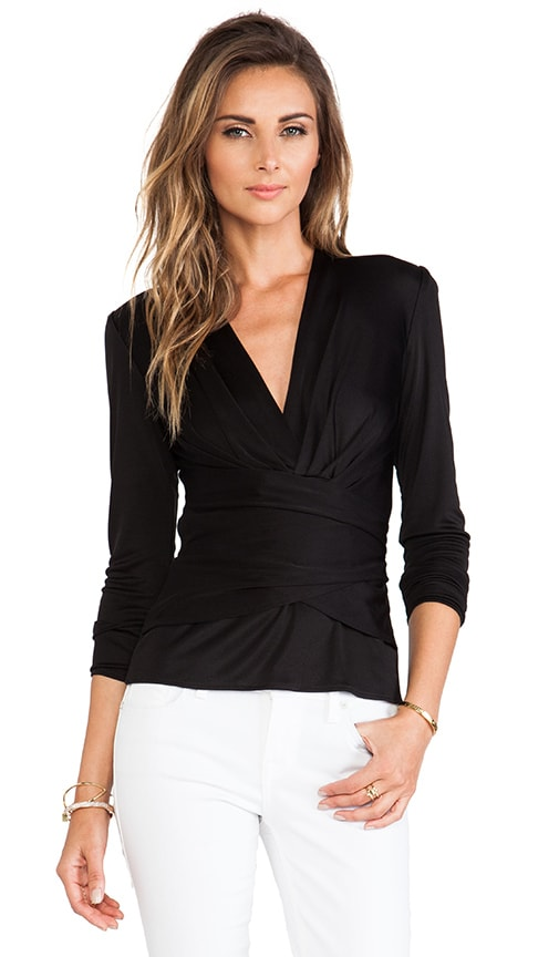 Kathryn Long Sleeve Wrap Top