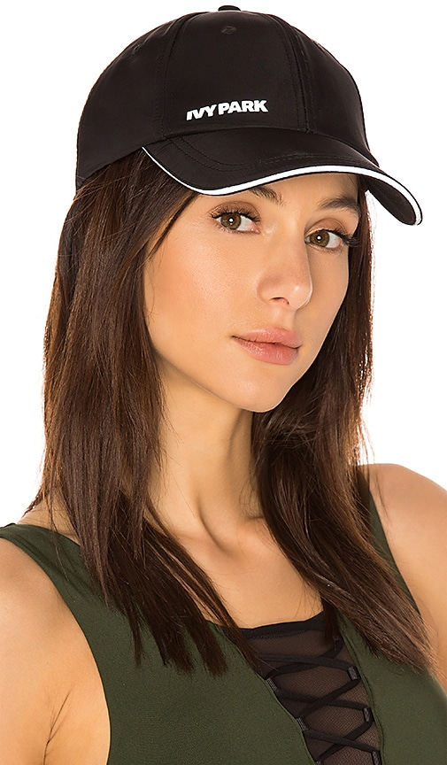 IVY PARK Baseball Cap in Black
