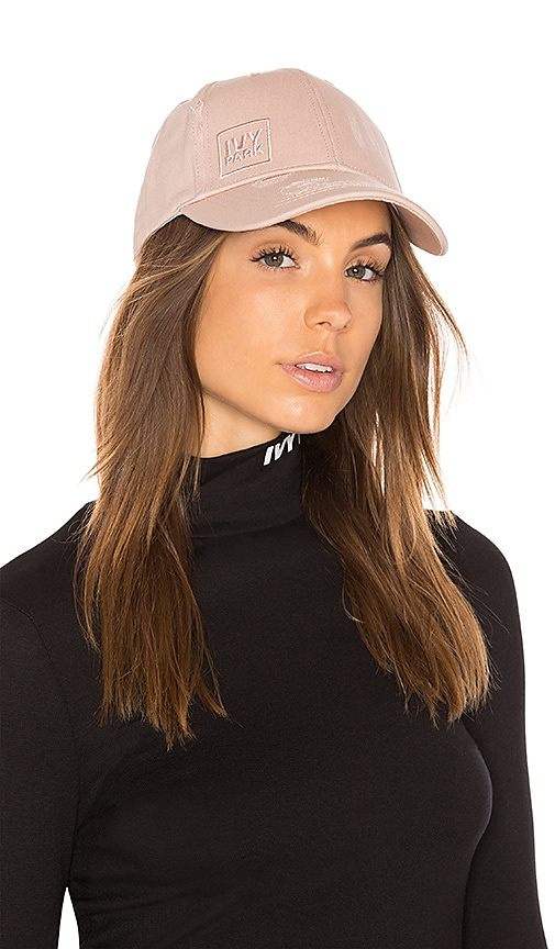 IVY PARK Distressed Cap in Pink