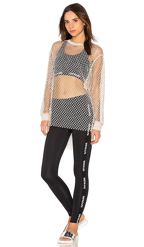 IVY PARK Mesh Long Sleeve Tee in Taupe