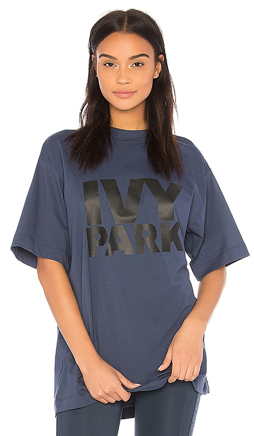 IVY PARK Oversized Logo Tee in Blue
