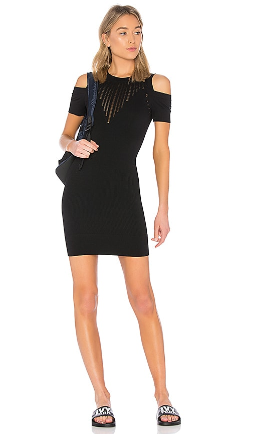IVY PARK Circular Knit Dress in Black