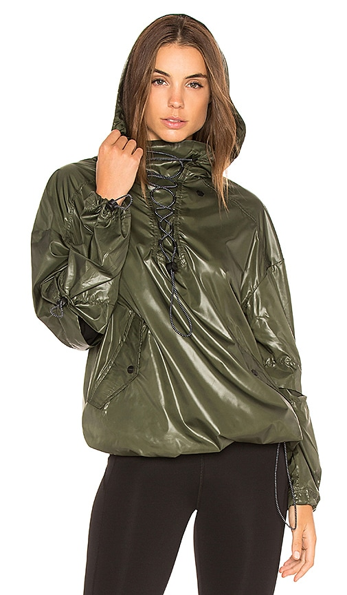 IVY PARK Wet Look Jacket in Army