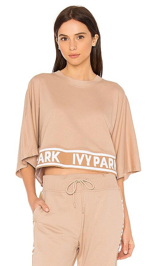 IVY PARK Logo Crop Tee in Cream