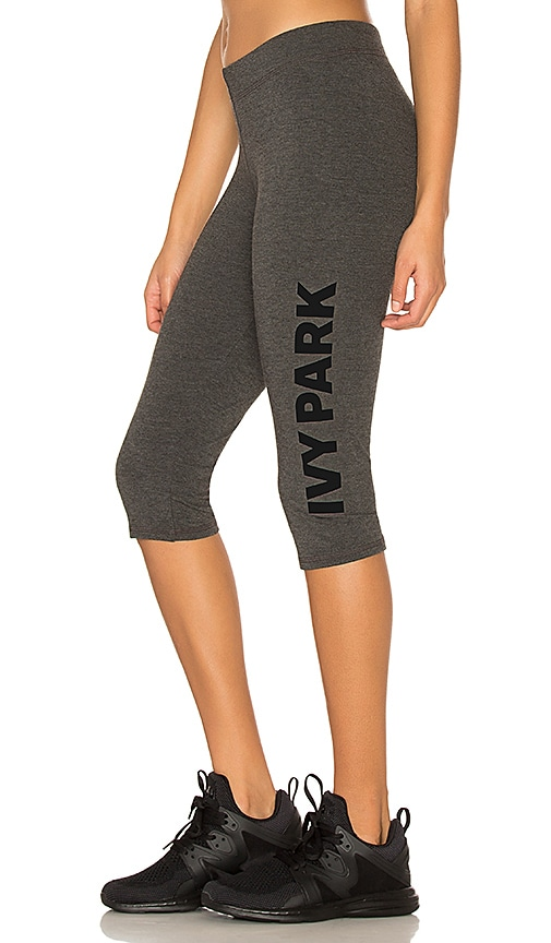 IVY PARK Casual Crop Legging in Charcoal