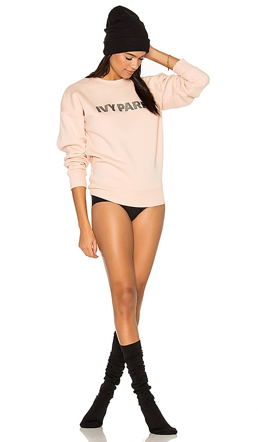 IVY PARK Logo Sweatshirt in Blush