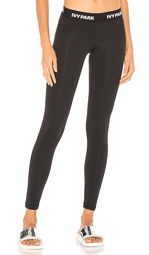 1b767aac91007 IVY PARK Low Rise Legging in Black & White Logo | REVOLVE