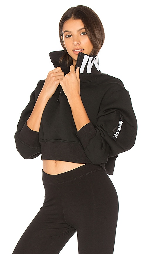 IVY PARK Zip Up Pullover in Black