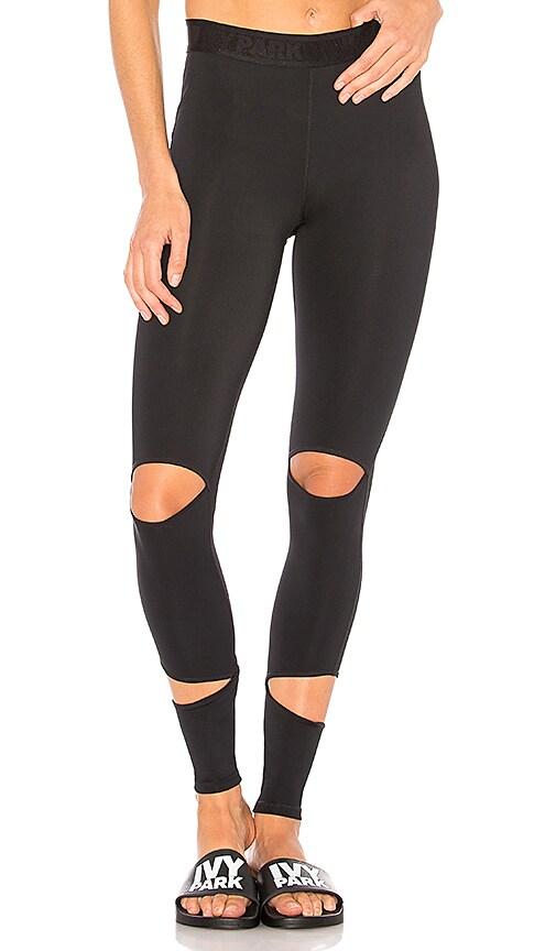 IVY PARK Slash Legging in Black