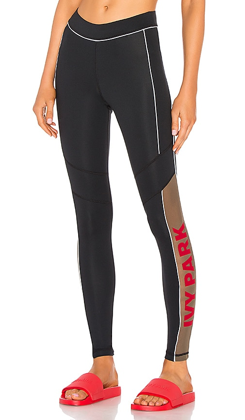 3f485396a92958 Sheer Flocked Active Logo Legging. Sheer Flocked Active Logo Legging. IVY  PARK