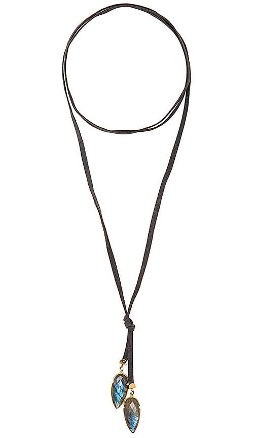 Jacquie Aiche Double Labradorite Arrow Wrap Necklace in Gold