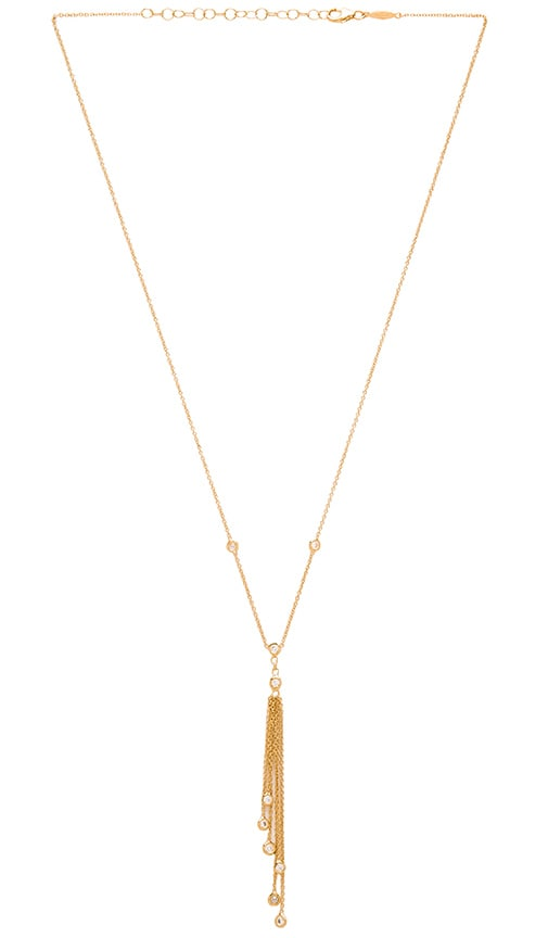 Jacquie Aiche Tassel Necklace in Metallic Gold