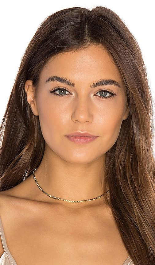 Jacquie Aiche Flat Chain Choker in Metallic Gold