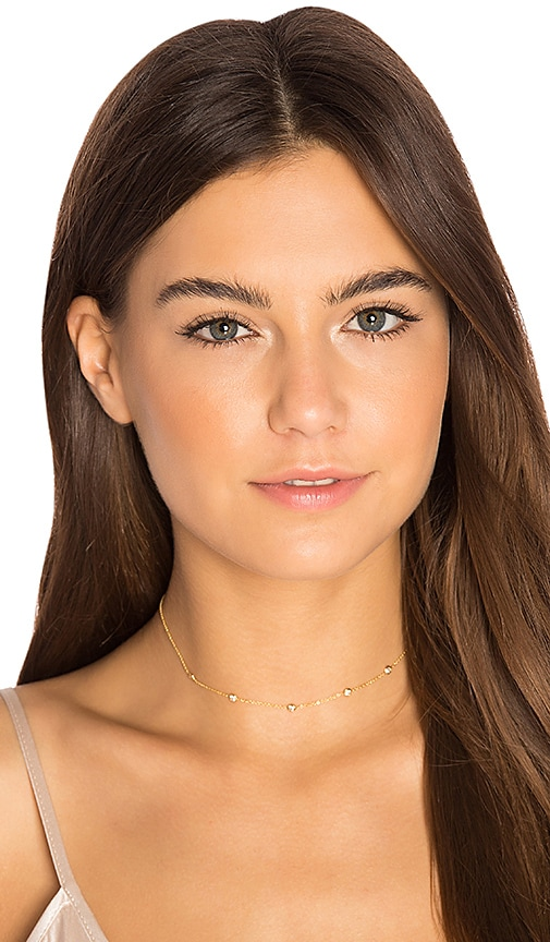 Jacquie Aiche 5 Spaced Out CZ Choker in Metallic Gold
