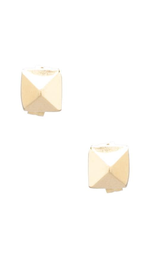 Pyramid Plain Stud Earrings