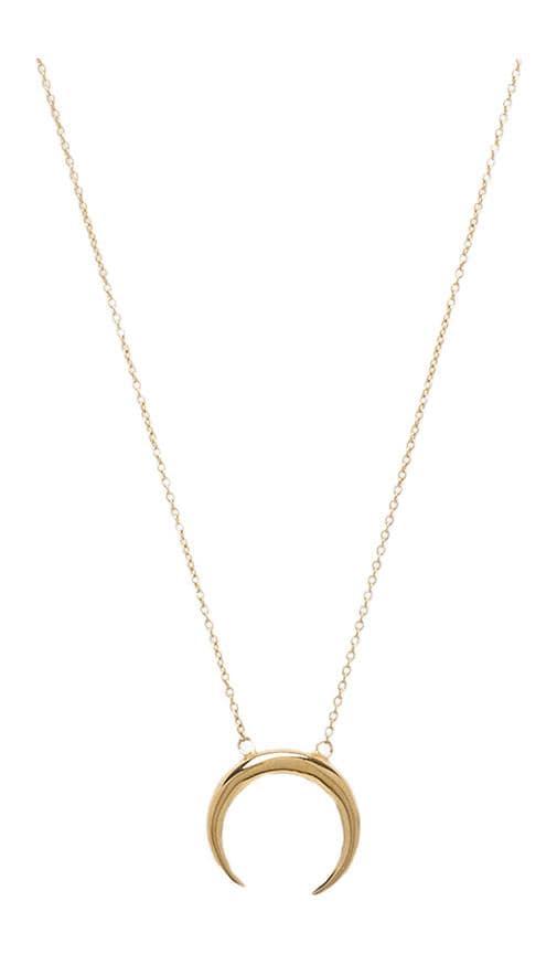 Jacquie Aiche Small Crecent Necklace in Gold Vermeil