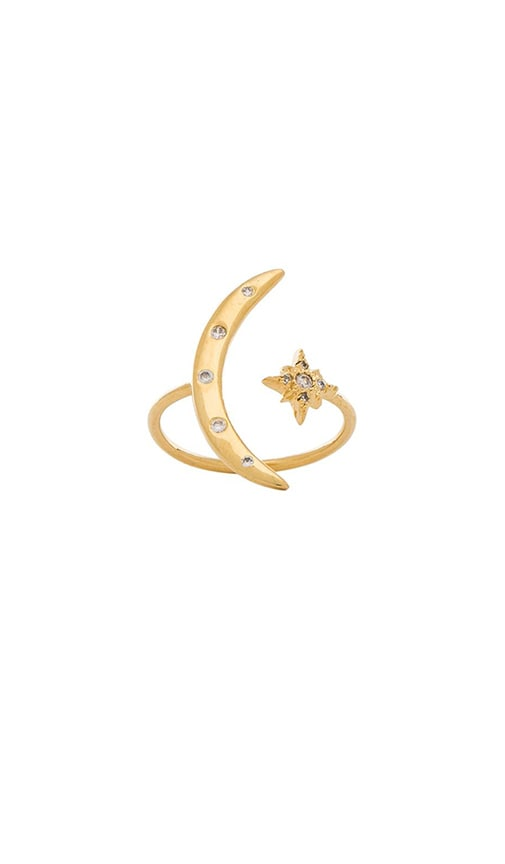 Jacquie Aiche Moon & Shining Star Ring in Gold