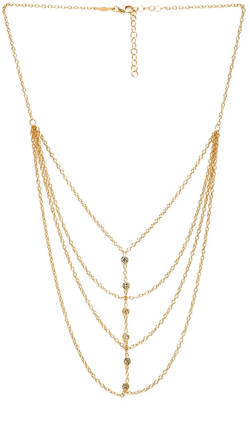 Jacquie Aiche Multi Chain Necklace in Gold