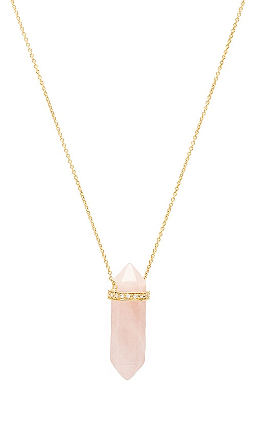 Jacquie Aiche Opalite Pendant Necklace in Pink