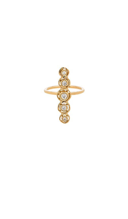 Jacquie Aiche Bezel Bar Ring in Gold