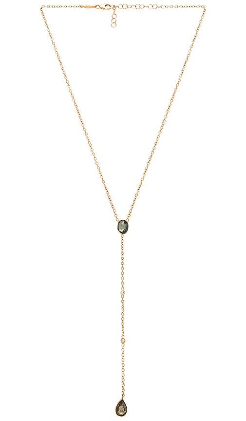 Jacquie Aiche Opal Necklace in Metallic Gold