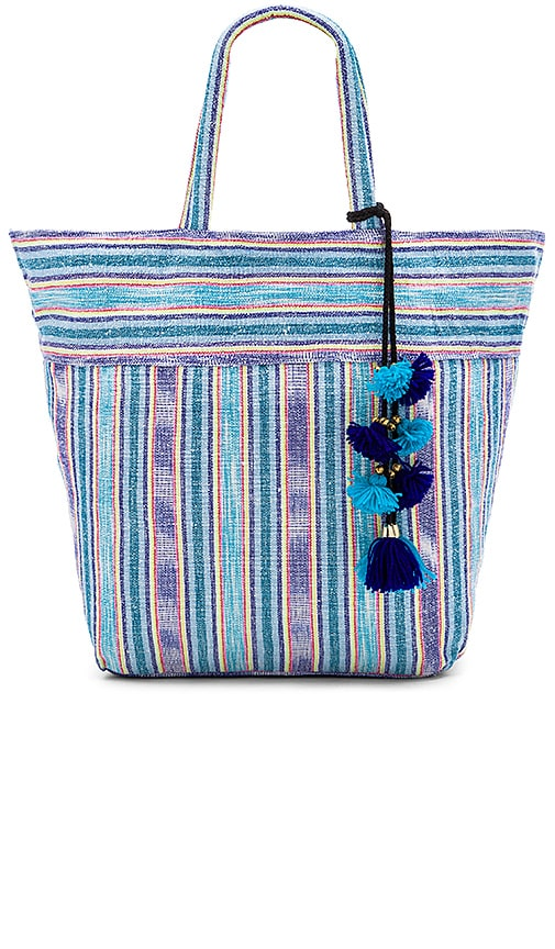JADEtribe Samui Stripe Tote in Blue