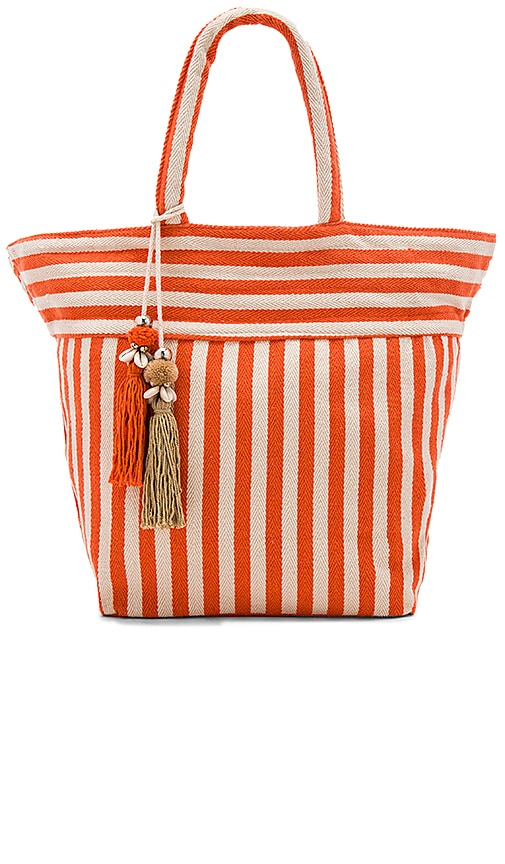JADEtribe Valerie Pastel Puka Tote Bag in Orange