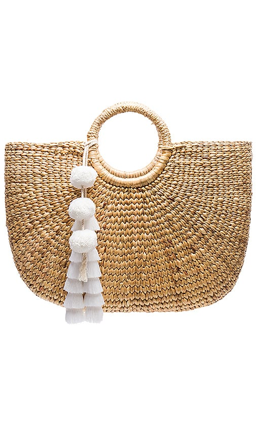 JADEtribe Large Basket Tote in Beige