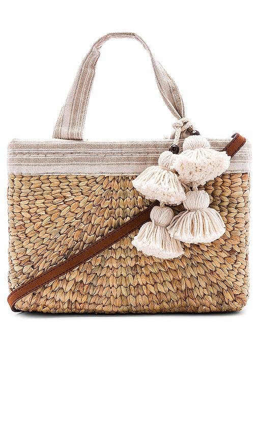 PANIER SABAI MINI SQUARE WITH LEATHER HANDLE