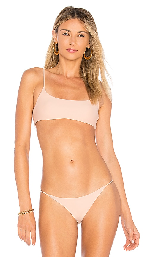 JADE SWIM Muse Bikini Top in Pink