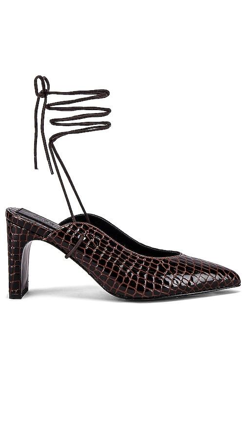 Laced Croc Heel
