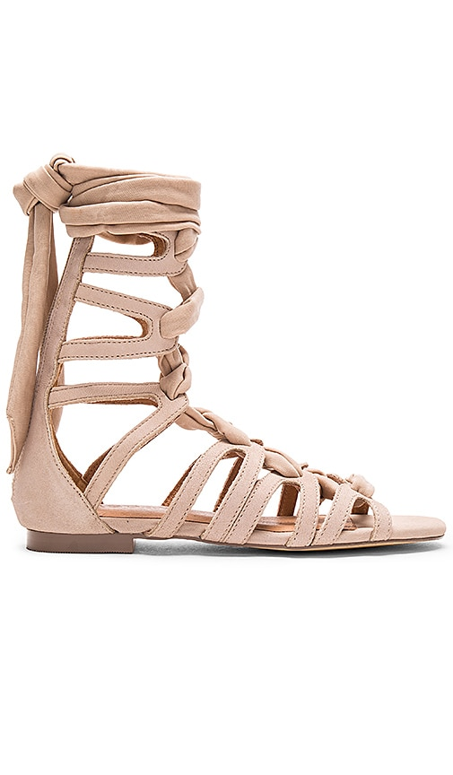 JAGGAR Zigzag Turns Sandal in Taupe