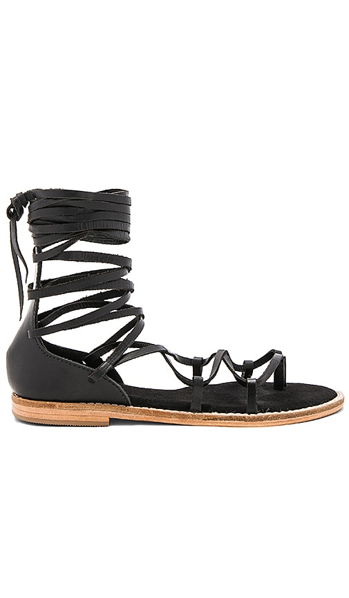 JAGGAR Pave Sandal in Black
