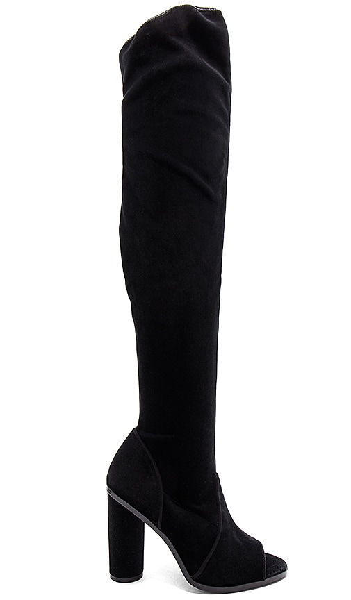 JAGGAR Women's Velvet Peep Toe Over-the-Knee Boots s5KihLDB