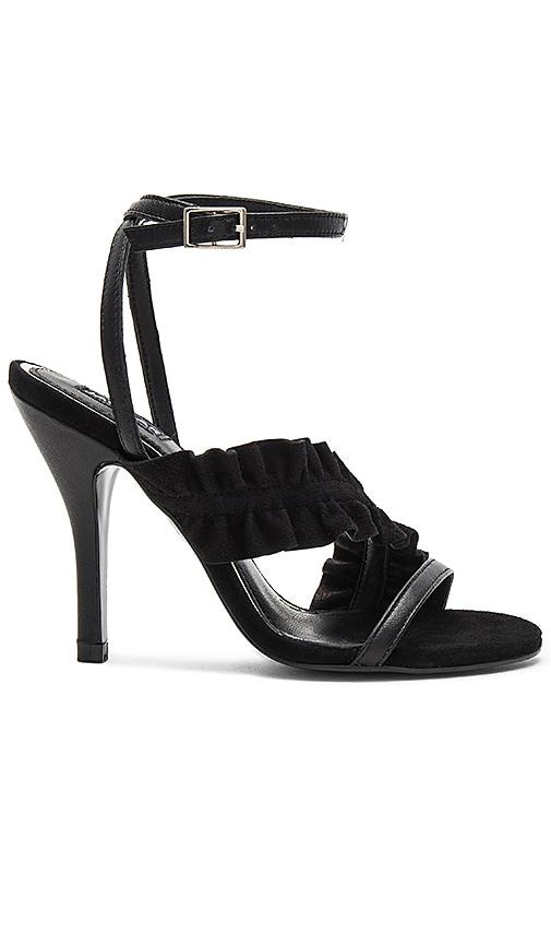 JAGGAR Frill Heel in Black