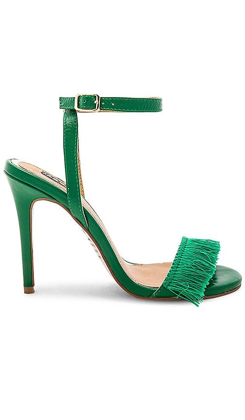 JAGGAR Fringe Leather Heel in Green