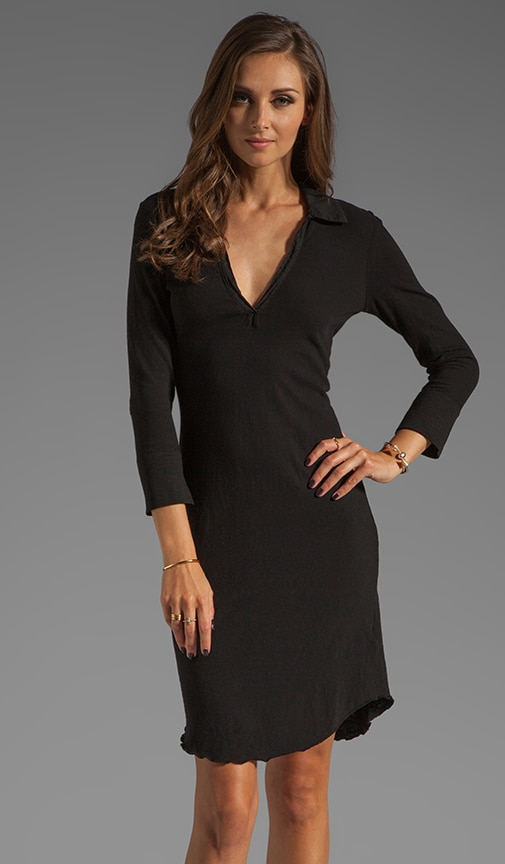 3/4 Sleeve Polo Dress