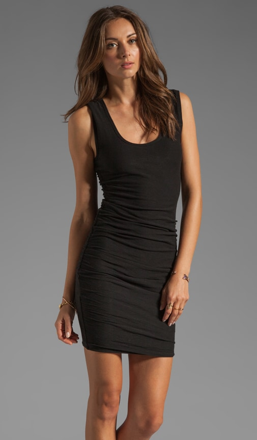 Wide Strap Ruched Dress