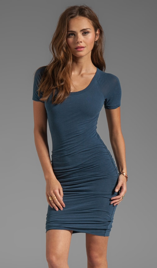 Rouched Raglan Dress