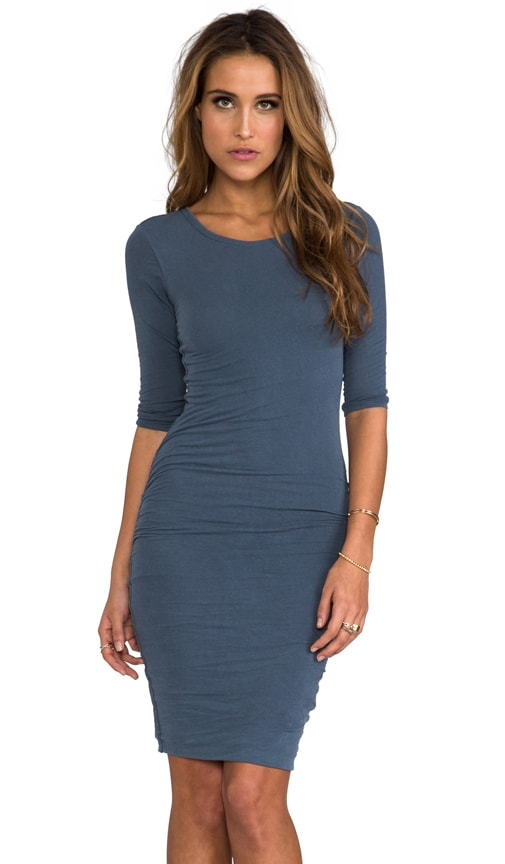 Jewel Neck Skinny Dress