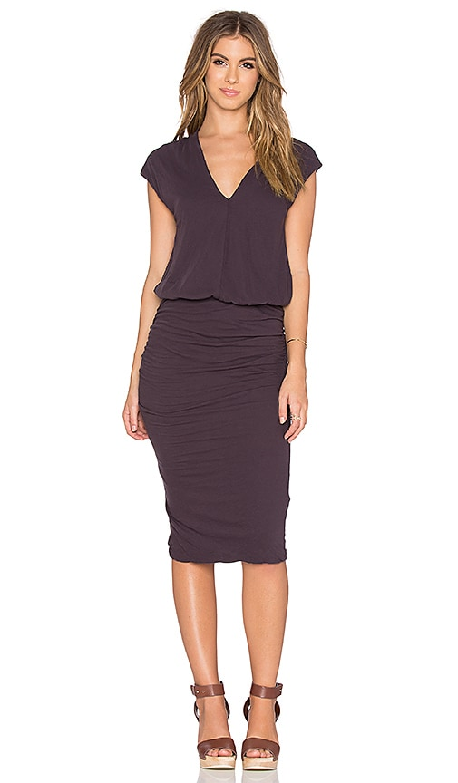 James Perse Sleeveless Shirred Dress in Madras
