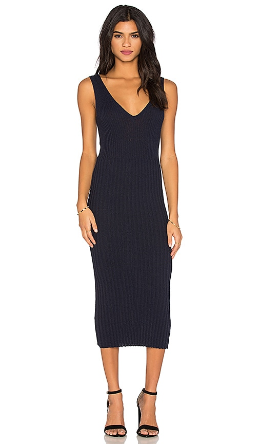 James Perse V Neck Maxi Dress in Navy
