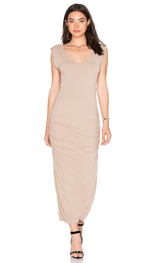 James Perse Twisted Sleeve Tube Dress in Island