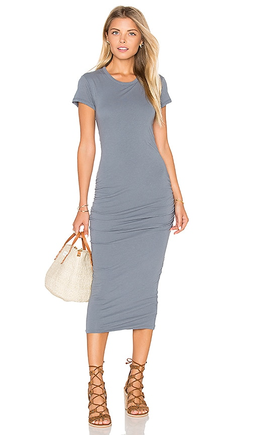 James Perse Classic Skinny Dress in Gray